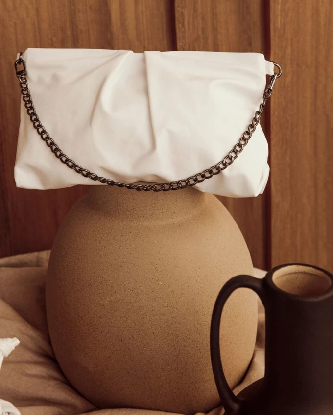White Evening Bag